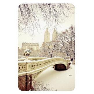 Central Park Snow - Winter New York Rectangular Photo Magnet