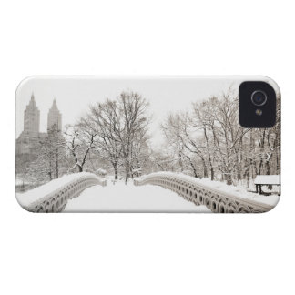 Central Park Winter Romance - Bow Bridge iPhone 4 Case-Mate Case