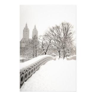 Central Park Winter Romance - Bow Bridge Stationery
