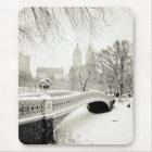 Central Park Winter - Snow on Bow Bridge Mouse Mat