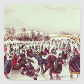 Central Park, Winter: The Skating Carnival Stickers
