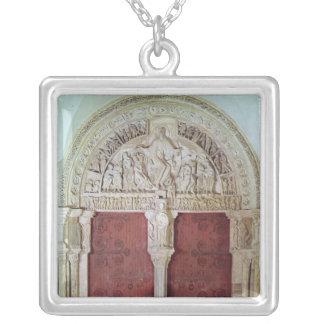 Central Portal Narthex Church Sainte-Madelaine Silver Plated Necklace