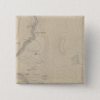 Central Portion of Upper Geyser Basin 15 Cm Square Badge