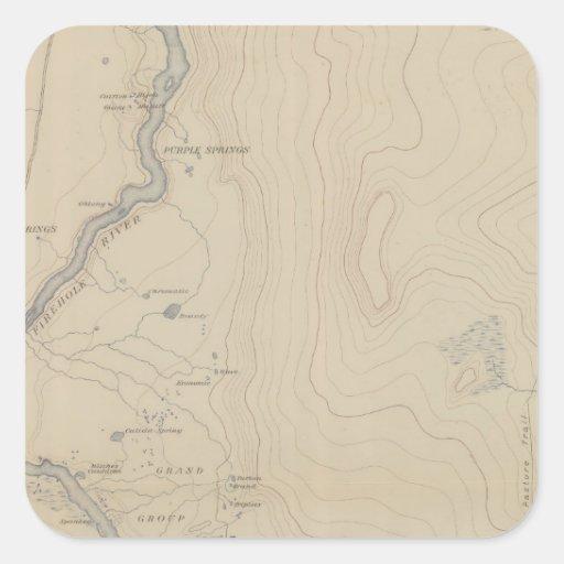 Central Portion of Upper Geyser Basin Square Sticker