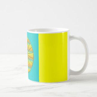 Central punk yellow basic white mug