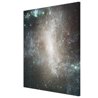 Central region of the barred spiral galaxy canvas print