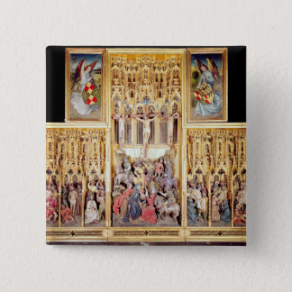 Central section of the Ambierle Altarpiece 15 Cm Square Badge