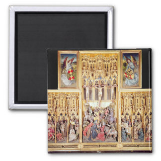 Central section of the Ambierle Altarpiece Square Magnet