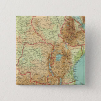 Central & Southern Africa with shipping routes 15 Cm Square Badge