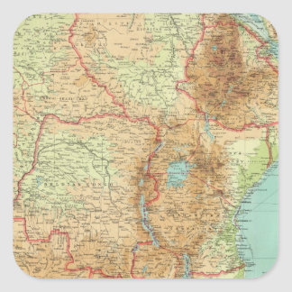 Central & Southern Africa with shipping routes Square Sticker