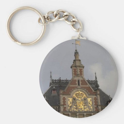 Central Station, Amsterdam Keychains