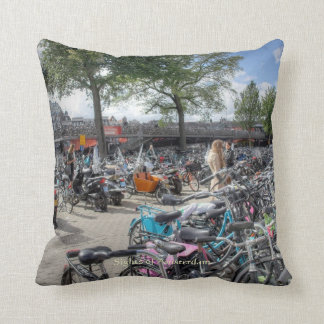 Central Station Bicycle Park, Sights of Amsterdam Cushion