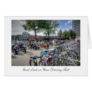 Central Station Bicycles Good Luck on Driving Test Card