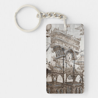 Central Station Notre Dame Single-Sided Rectangular Acrylic Key Ring