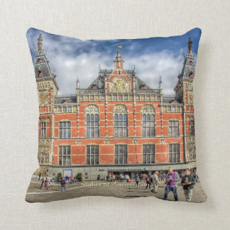 Central Station, Sights of Amsterdam Cushion