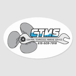 Central Tennessee Marine Service Oval Sticker