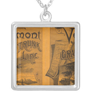 Central Vermont, Grand Trunk Line Silver Plated Necklace