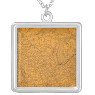 Central Vermont Railroad, connections Silver Plated Necklace