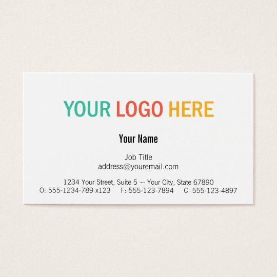 Centre custom logo modern custom professional business card