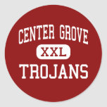 Centre Grove - Trojans - High - Greenwood Indiana Round Stickers