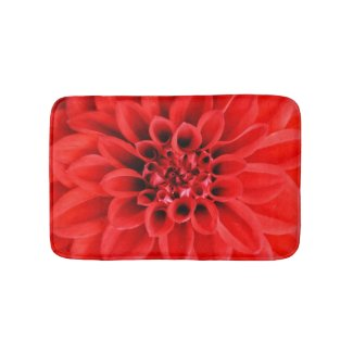 Centre of a Red Dahlia Bath Mat