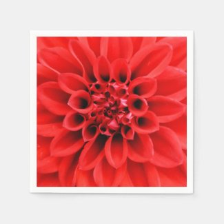 Centre of a Red Dahlia Paper Napkins