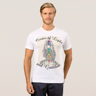 Centre of Light and Gratitude Mens tshirt