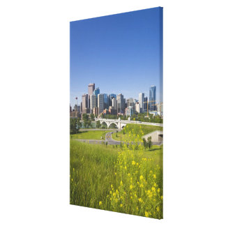 Centre St Bridge and Downtown Calgary, Alberta, 2 Canvas Print