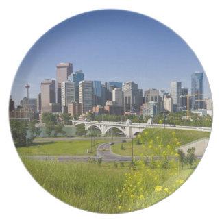 Centre St Bridge and Downtown Calgary, Alberta, 2 Plate