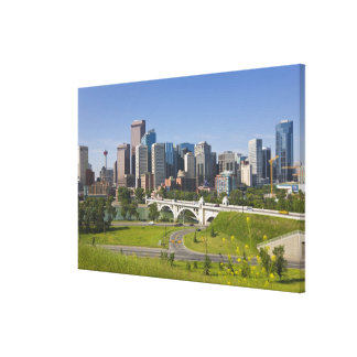 Centre St Bridge and Downtown Calgary, Alberta, Canvas Print