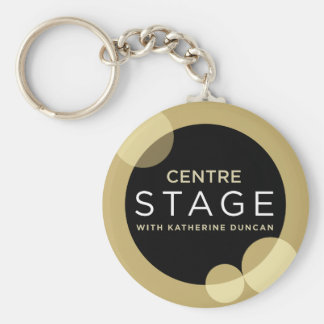 Centre Stage Basic Round Button Key Ring