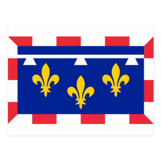 Centre Val De Loire Flag Postcard