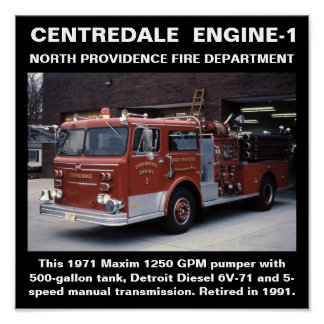 Centredale Engine-1 North Providence FD Print