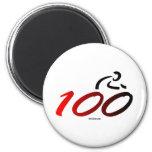Century bike ride 6 cm round magnet