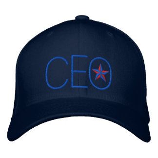CEO Star Boss Embroidery Baseball Cap