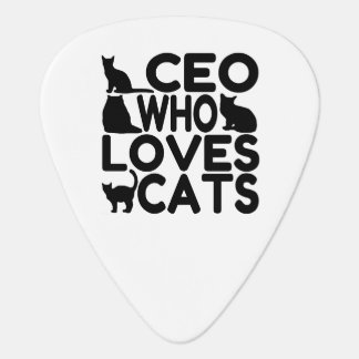 CEO Who Loves Cats Guitar Pick