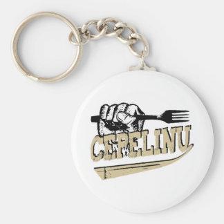 Cepelinu marskineliai (potato dumplings) basic round button key ring