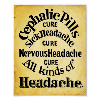 Cephalic Headache Pills Print 1861