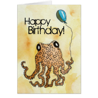 Cephalopod Birthday Card