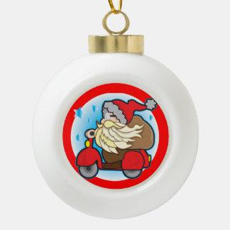 Ceramic Ball Decoration with Santa Claus