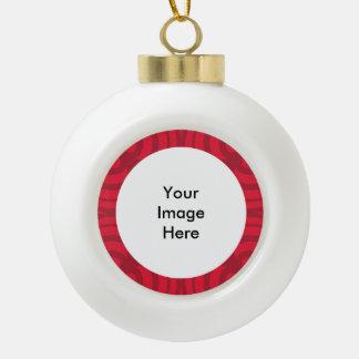 Ceramic Ball Red Frame Ornament! Ceramic Ball Christmas Ornament