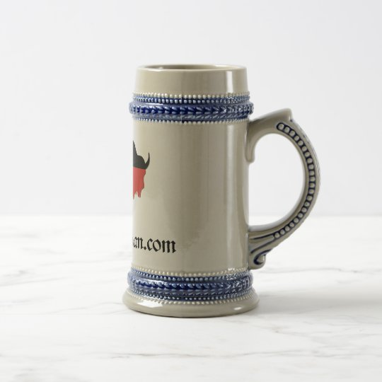 Ceramic Bison Beer Stein