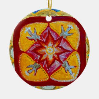 Ceramic Decoration Mandala Peace