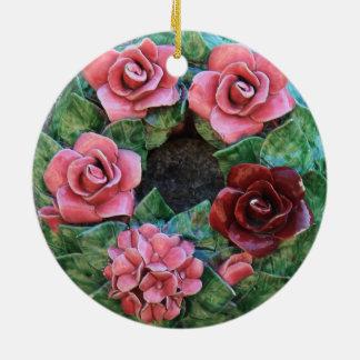 Ceramic flowers Christmas ornament