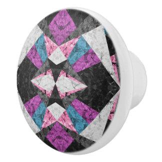 Ceramic Knob Marble Geometric Background G438