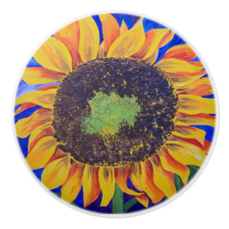"""ceramic knob sunflower"