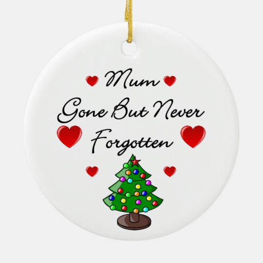 Ceramic Memorial Mum Christmas Tree Ornament
