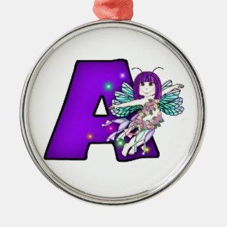 Ceramic Ornament  Cute Fairy Letter A