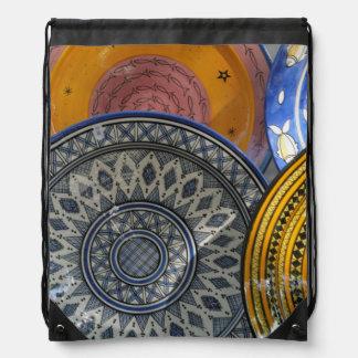 Ceramic Plates Drawstring Bag