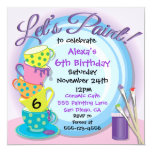 Ceramic Pottery Painting Party Invitations